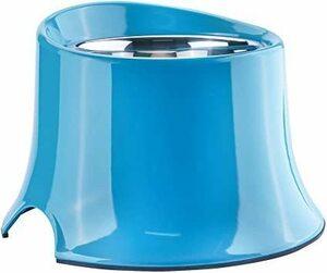 新品青 S(300ml) SuperDesign 犬猫向けのステンレスチ ルボウル吸水器給食器ラバ 製丸型メラミン製7J7D