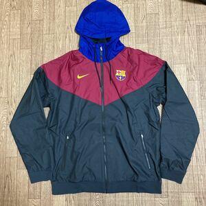 《新品未使用》ナイキ サッカー FCバルセロナ ナイロンジャケット パーカー USのXLサイズ