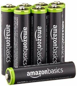 Amazonベーシック 充電式ニッケル水素電池 単4形8個セット 充電池 (最小容量800mAh、約1000回使用可能)