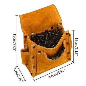 セール!高品質 牛革 ウェアラブルウエストパック 電気ウエストツールベルトバッグ スクリュードライバーキット 修復ツールホルダー ドリ