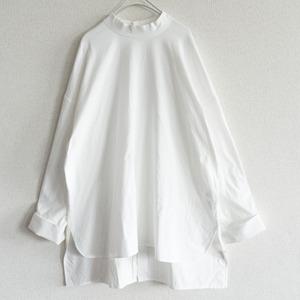 【20AW】 ARTS&SCIENCE 【cotton moc blouse】 ワイドシルエット ブラウス 2109141