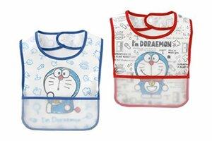 水色 (チャックルベビー) chuckle BABY I'm Doraemon ドラえもん 食事用エプロン 赤 青 2枚組 P8