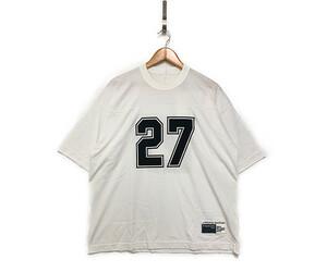 sacai サカイ×fragment フラグメント 20SS 品番20-00237S ナンバリング Tシャツ 白 サイズ3 正規品 T80/25934