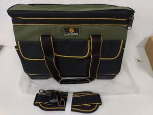 39s2402 Drado ツールバッグ 工具バッグ 工具袋 道具袋 工具差し入れ 肩掛けベルト付き 42㎝×23㎝×28㎝