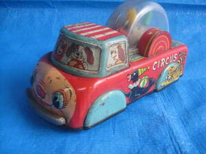 valuable! Showa Retro tin plate toy circus automobile made in Japan MODERM TOYS 1 pcs limit carrier. decoration . times .!