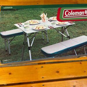 【良品】Coleman ピクニックベンチセット