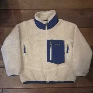 patagonia パタゴニア レトロX ジャケット キッズ ボア フリース XS 120 ネイビー ボアジャケット アウター ナチュラル フリース 子供