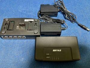 BUFFALO スイッチングハブ LSW3-TX-5EPL 中古品 2台セット