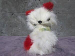 昭和レトロ 首振り犬の人形 毛皮の犬 USED