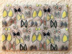 高級刺繍生地 蝶々