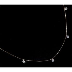 *NC2078【BC新作アーティファクトジュエリー】Lucky 7 Necklace 天然上質ダイヤモンド0.50ct 最高級18金無垢ネックレス 新品