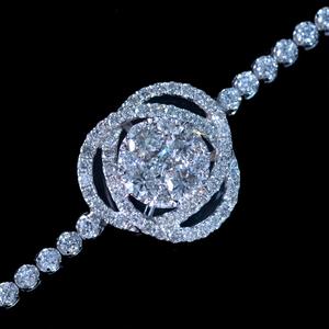 *BL2257【祝!非常事態宣言解除企画 全国出張買取開始!】天然上質ダイヤモンド1.66ct 最高級18金WG無垢ブレス 新品
