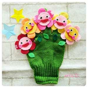 おはながわらった&チューリップのうた2曲♪手袋シアター エプロンシアター 保育園 保育士 知育玩具 幼稚園 看護師 プレゼント 先生実習