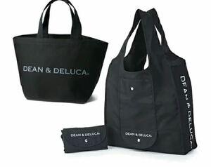 DEAN&DELUCA トートバッグS ショッピングバッグ 計2点セット ブラック 黒