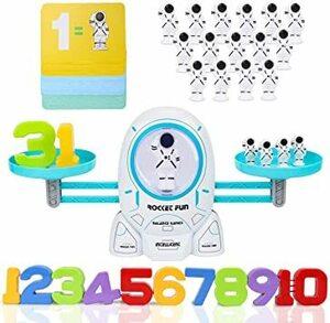 Nueplay 知育玩具 子ども バランスゲーム 子供オモチャ 男の子 おもちゃ 女の子 おもちゃ 早期教育 宇宙飛行士 天秤
