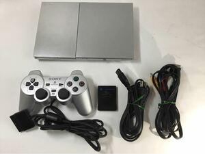 PS2 プレイステーション2 最終型 SCPH-90000 動作確認済み サテンシルバー SONY メモリーカード