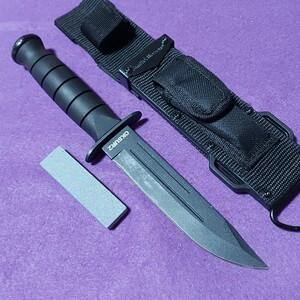 サバイバルナイフ ハンティングナイフ 砥石付き