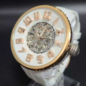 TENDENCE テンデンス 自動巻き オートマチック ホワイトラバー 稼働品 腕時計