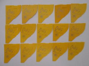 銀のエンゼル、15枚(おもちゃのカンヅメ キョロちゃん チョコボール くちばし エンジェル 森永製菓 金のエンゼル)