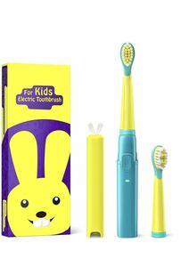 子供用 電動歯ブラシ 音波歯ブラシ 携帯型歯ブラシ USB充電 IPX7級防水 3モード切り替え 電動歯磨き 替えブラシ2本 3歳~12歳の子供向け