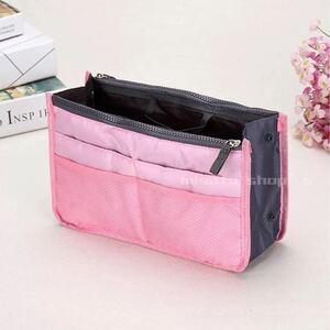 人気 バッグインバッグ 定番 インナーバッグ ピンク 収納バッグ 整理整頓