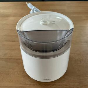 アイスクリームメーカー ホワイト dretec ドリテック アイスメーカー シンプル