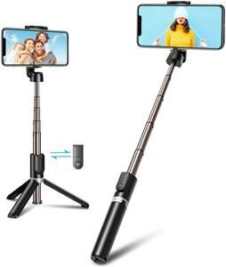 Bovon 自撮り棒 三脚 Bluetooth リモコン付き セルカ棒 アルミ合金製 伸縮式 360度自由回転可 三脚/一脚兼用 iPhone/アンドロイドに対応