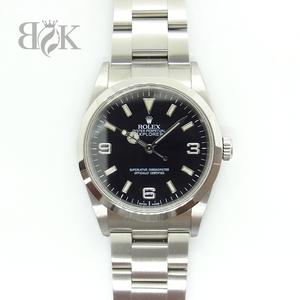 ロレックス 114270 D番 エクスプローラーI 海外ギャランティ 箱 ●