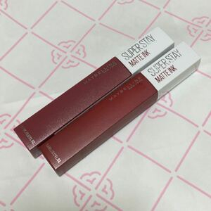 メイベリン マットインク リップ 口紅 #80 深みのあるローズ 5ミリリットル #117 ビターなレッド