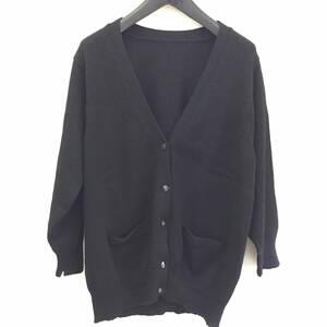 洋服 長袖 カーディガン 黒 ブラック ゆったり系 女性 婦人 レディースファッション トップス