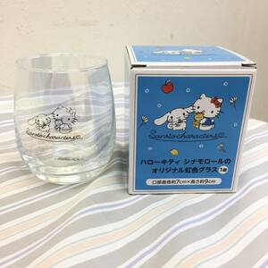 非売品 ハローキティ シナモロール オリジナル 虹色 グラス 1個 ローソンストア100 コップ 食器