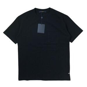 未使用品 LOUIS VUITTON ルイヴィトン 21SS ハーフ ダミエ ポケット Tシャツ ノアール S 国内正規 1A8HBQ 黒 HJY40WVHI 半袖 1A8HBS