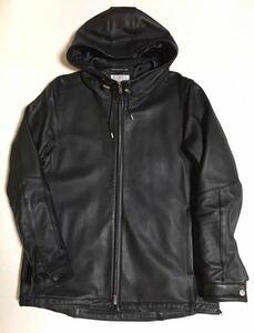 VOGUISH レザー フード ジャケット XL BLACK ボーギッシュ Lether jacket 黒 ブラック フーディ ブルゾン ライダース パーカー Parker 革