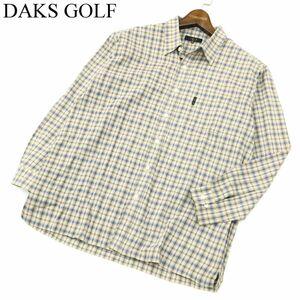 DAKS GOLF ダックス ゴルフ 長袖 コットン★ チェック シャツ Sz.M メンズ 日本製 A1T10114_8#C