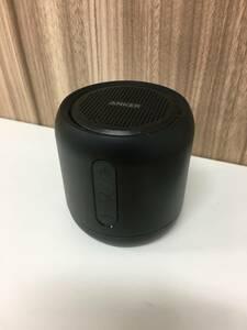 295−2 Anker Soundcore mini コンパクト Bluetoothスピーカー内蔵マイク搭載/microSDカード FMラジオ対応 ブラック現状品