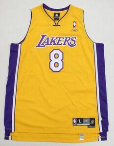 KF* NBA リーボック ロサンゼルス・レイカーズ #8 コービー・ブライアント L *①MKF00015 LAKERS BRYANT ユニフォーム ジャージ