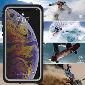 防水ケース お風呂や雨の日でも使用可能 iPhone Xs Max 6.5インチ IP68防水 防塵 米軍規格 耐衝撃 ワイヤレス充電対応 360度全面保護