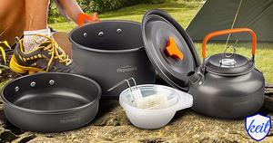 クッカー アルミ製 クッカーセット アウトドア 鍋 アウトドアケトル キャンピング 調理器具 収納袋付き 23人用 ktam57