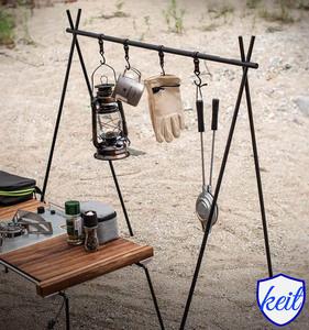 ランタン ランタンスタンド キャンプ ハンガー ランタンポール 屋外 折り畳み 収納バッグ付き キャンプ アウトドア バーベキュー ktam19