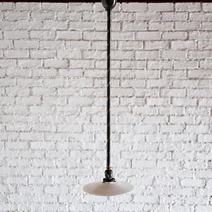 アンティークSALE30%OFF 照明 シーリングライト ヴィンテージ ランプ インダストリアル ロング ミルクガラス シェード おしゃれ