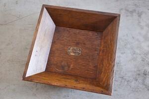 アンティークSALE41%OFF ボックス オーク材 蓋 レコード 木製 真鍮プレート 入れ物 雑貨 1920年代 ヴィンテージ