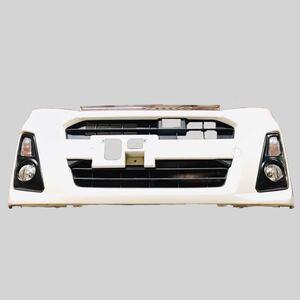 SUBARU スバル LA100F LA110F ステラ カスタム 後期 フォグランプ ウィンカー付 レーダー有り フロントバンパー W24 パールホワイトⅢ
