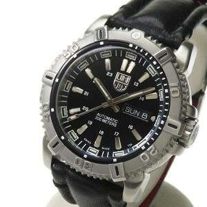 LUMINOX/ルミノックス 6501 モダンマリーナ 腕時計 ステンレススチール/レザーベルト 自動巻き/オートマ ブラック文字盤 メンズ