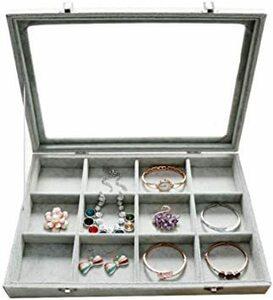I ジュエリーケース アクセサリーボックス ピアス イヤリングケース 耳飾り収納/ネックレス収納/指輪収納 ケース ベルベット