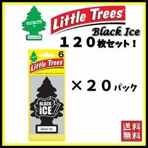 Little Trees Black Ice リトルツリー ブラックアイス 120枚セット    エアフレッシュナー 芳香剤 USDM 消臭剤 JDM エアフレ D058