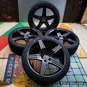新品 タイヤホイール4本セット ベンツ Sクラス CL Sクーペ W221 W216 W222 W217 20インチタイヤ付き255/35R20 275/35R20タイヤ年式2021