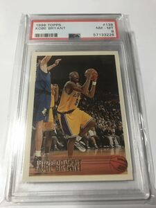 Kobe Bryant Rookie Card Topps 1996 1997 RC #138 Lakers PSA8