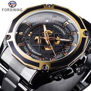 【送料無料】メンズ腕時計 43mm 機械式 自動巻き 多機能 カレンダー 曜日表示 男性ウォッチ 夜光 防水 ファション ブラック*
