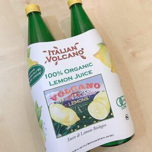 【新品 匿名配送】コストコ 有機レモンジュース ストレート 2本セット