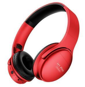 高音質 ヘッドホン レッド/赤 bluetooth5.0 ヘッドセット 大容量バッテリー 会話 マイク内蔵 PC/タブレット/スマホ